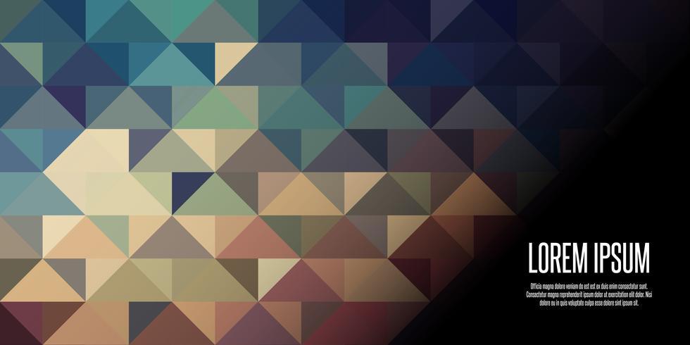 Geometrisch laag poly bannerontwerp vector