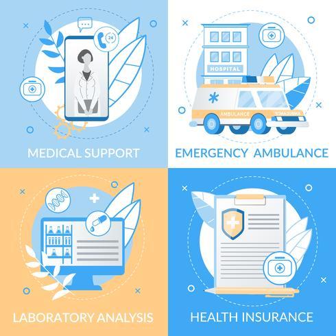 Informatieve medische ondersteuning Flyer vector
