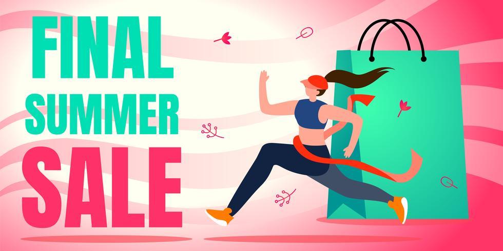 Laatste zomer verkoop banner vector