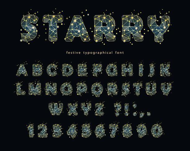 Sterren modern lettertype vector