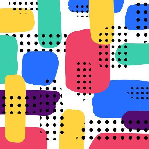 Abstracte handgemaakte verf penseelstreken patroon vector
