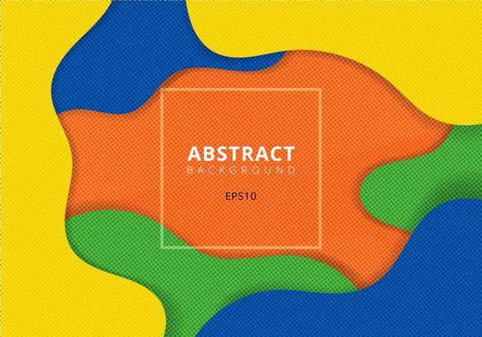 Golvende geometrische dynamische achtergrond met halftone textuur vector