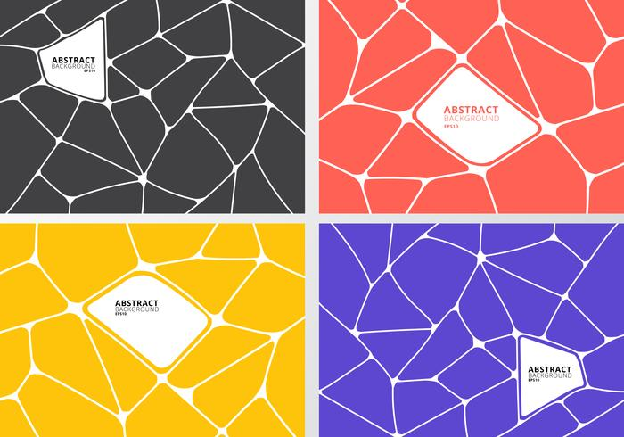 Set geometrische voronoi-patronen vector
