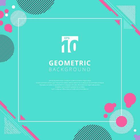 Roze cirkel geometrisch patroon op blauwe kleurenachtergrond met exemplaarruimte vector