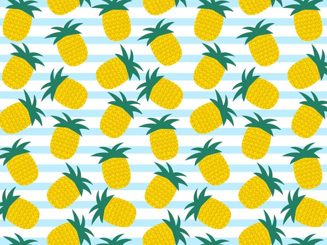 Zomer ananas Vector achtergrond