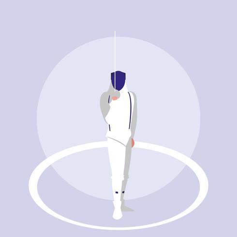 persoon beoefenen schermen avatar karakter vector