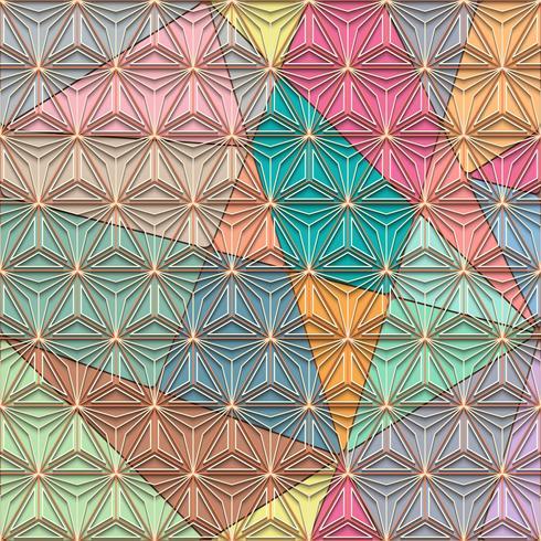 Veelhoeklijn en naadloos vector