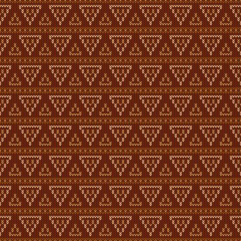 Geometrisch gebreid patroon met driehoeken vector