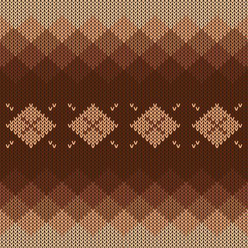 Geometrisch gebreid patroon met gradiënt en diamanten vector