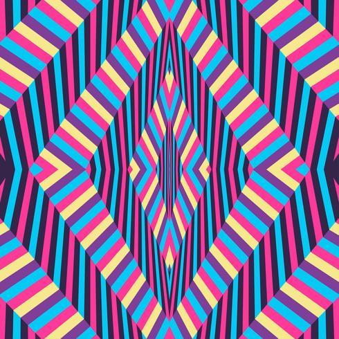 Optische illusie kleurrijke achtergrond vector