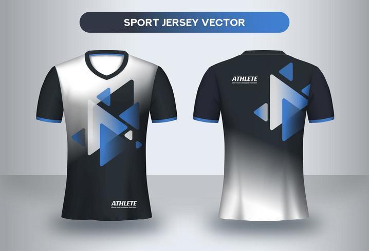 Moderne voetbal jersey ontwerpsjabloon. vector