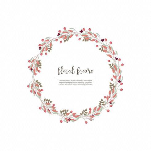Eenvoudig minimalistisch bloemenkaderontwerp vector