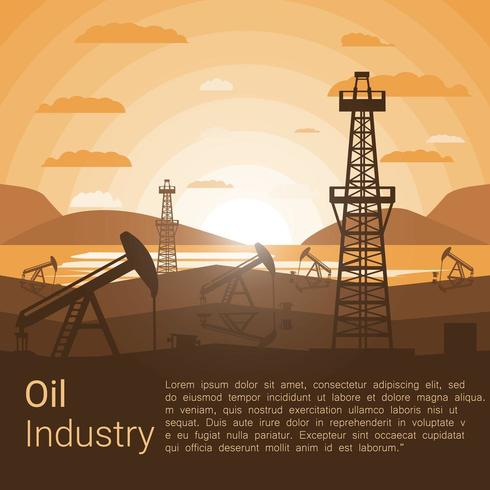 Olie-industrie poster vector