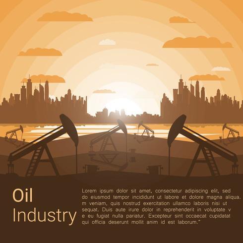 Olie industrie sjabloon vector