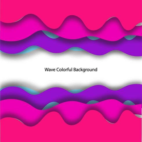 Afdrukken 3D Wave achtergrond kleurrijk ontwerp vector