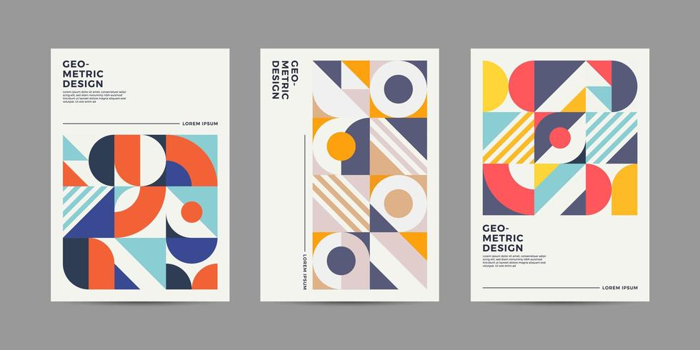 Retro lay-out omvat Covers vector