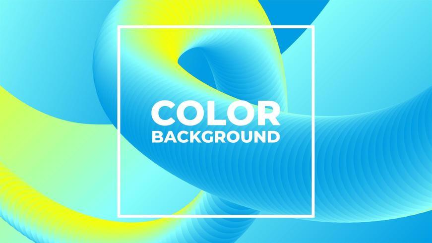 Meng gradiënt bewegende blauwe gele moderne achtergrond vector