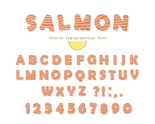 Zalm lettertype vector