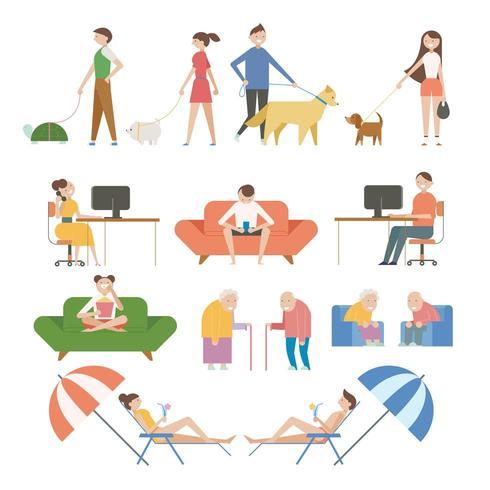 Tekens van verschillende levensstijlen. vector
