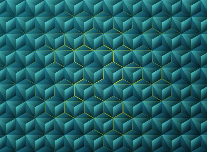 Abstract geometrisch techontwerp van gradiënt blauw driehoeken vector