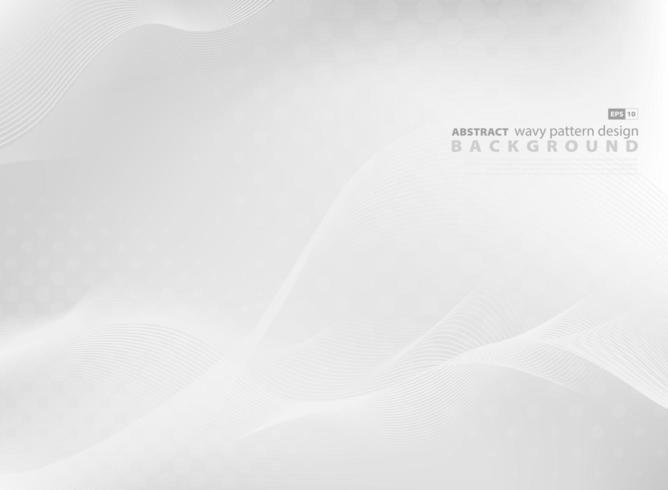 De abstracte grijze golvende achtergrond van het patroonontwerp vector