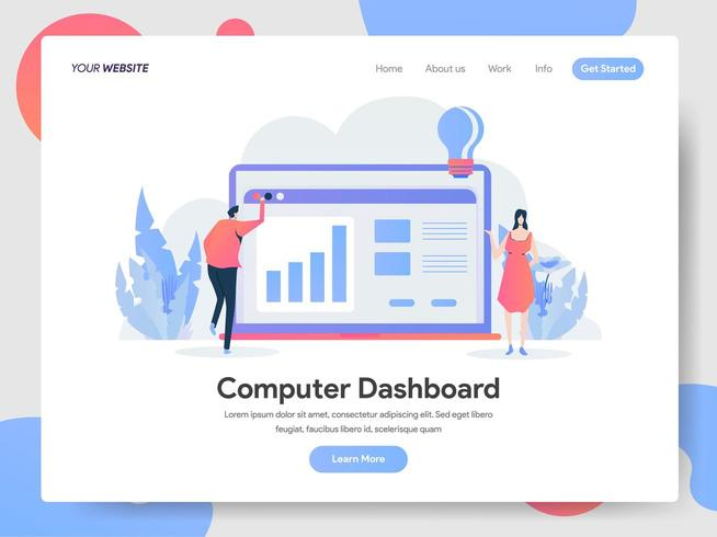 Dashboard Illustratie Concept vector