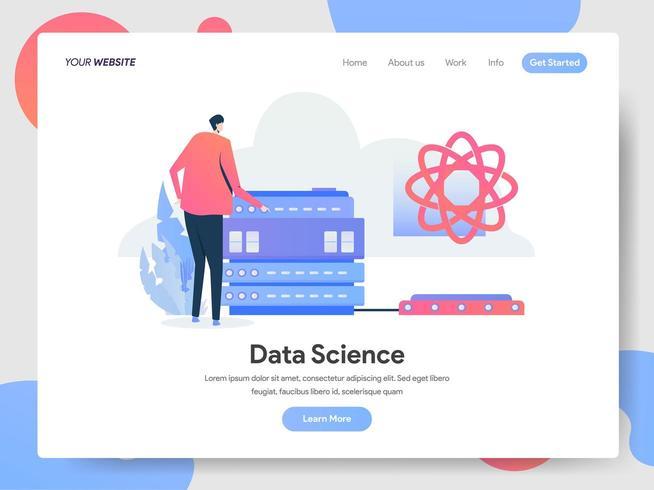 Data Science Illustratie Concept vector