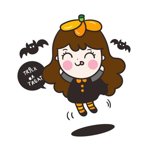 Halloween kinder cartoon vector