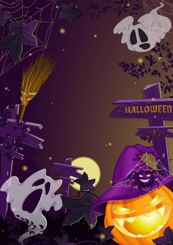 Verticale sjabloon folder voor Halloween vector