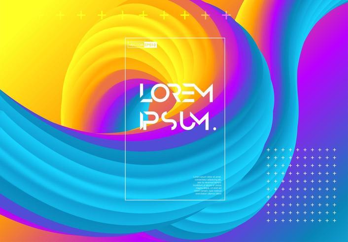 Futuristische verlopen vormen pagina vector
