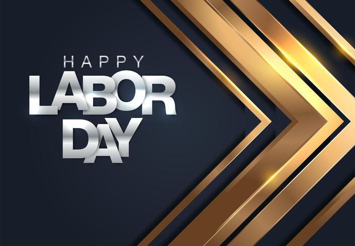 Happy dag van de arbeid banner vector