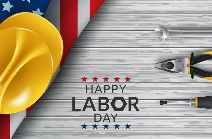 Happy Labor Day-tafelhulpmiddelen vector