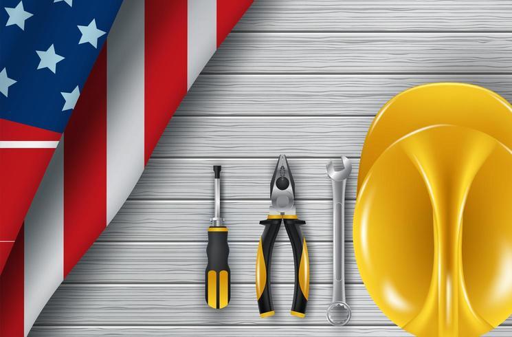 Happy Labor Day-hulpmiddelen vector