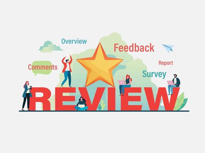 Klanten geven feedback van gebruikers vector