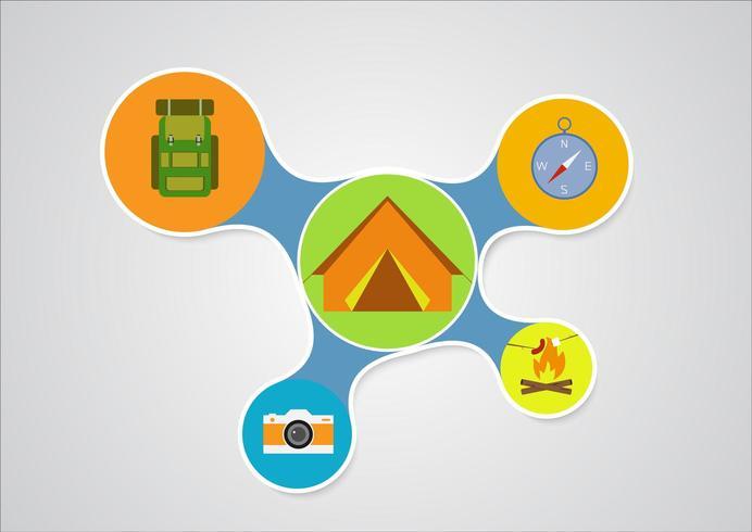 Camping Infographic ontwerp vector