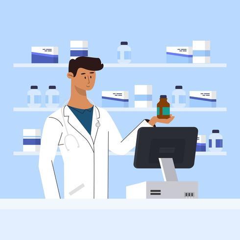 Kliniek Medicatie Drogisterij vector