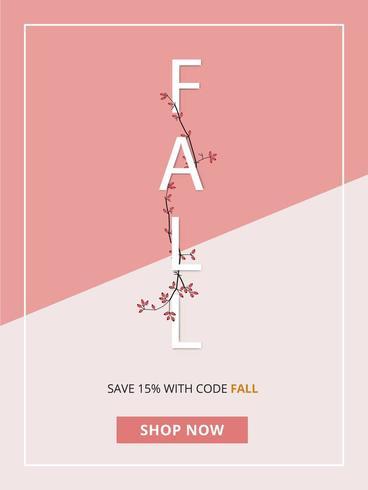 Abstracte herfst verkoop Poster vector