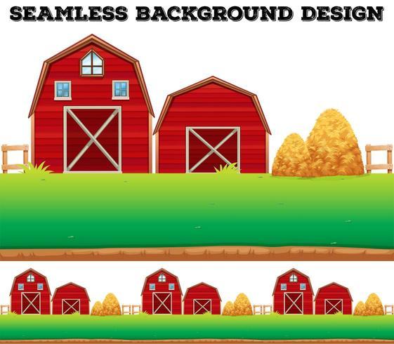 Schuren en hooiberg op boerderij vector