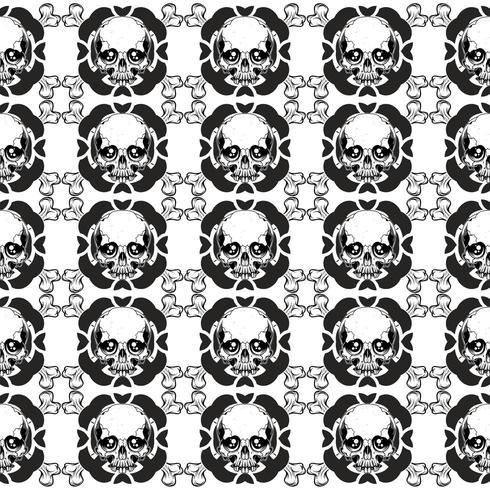 Vector patroon met schedels
