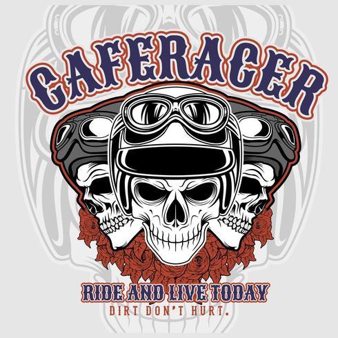 T-shirt ontwerpsjabloon Racer vector