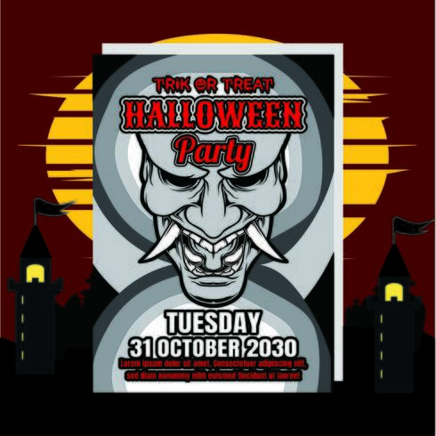 Halloween uitnodiging flyer vector