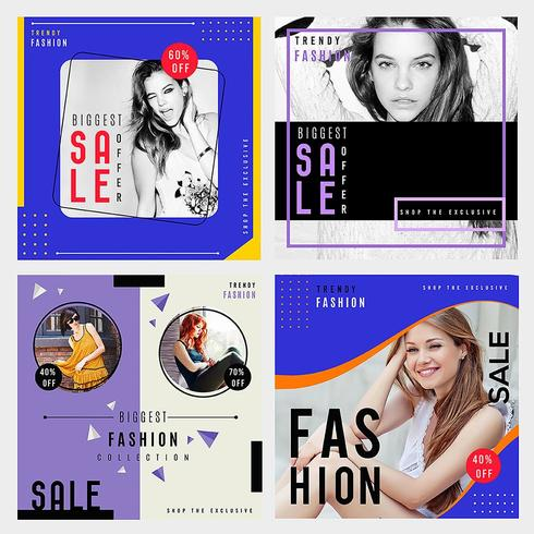 Fashion Sale Brochure-pakket vector