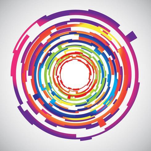 Abstracte technologie kleurrijke cirkels achtergrond vector