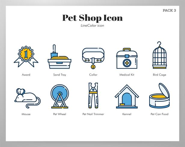 Dierenwinkel icon set vector
