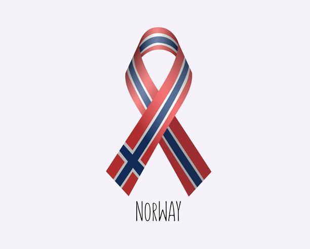 Rouw Noorwegen lint vector