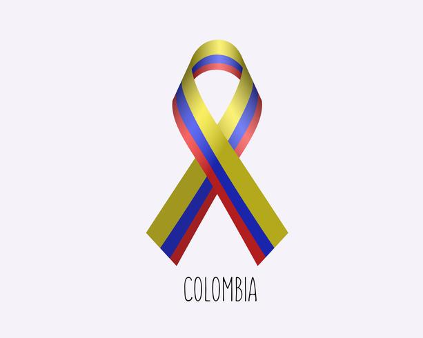 Rouw Colombia lint vector
