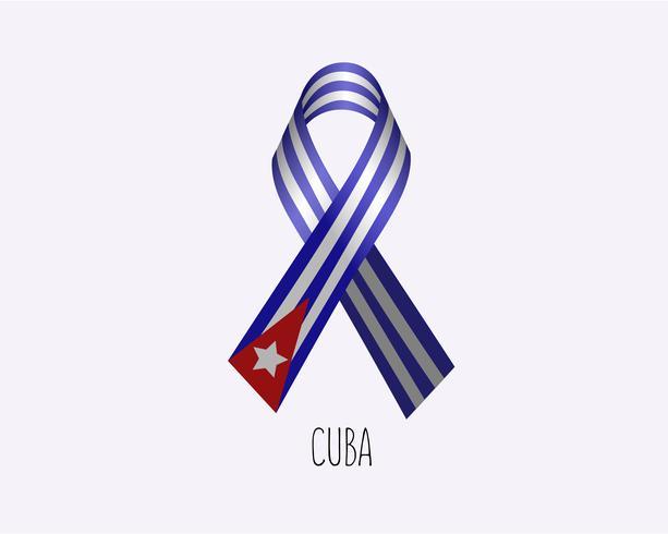 Rouw Cuba lint vector