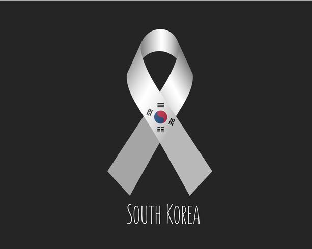 Rouw om Zuid-Korea vector