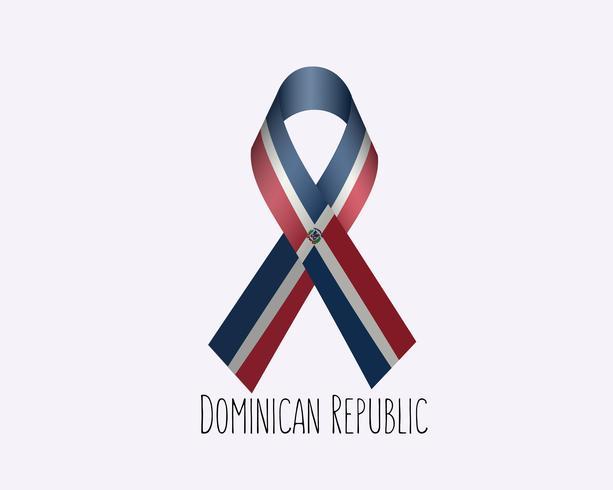 Rouw Dominicaanse lint vector