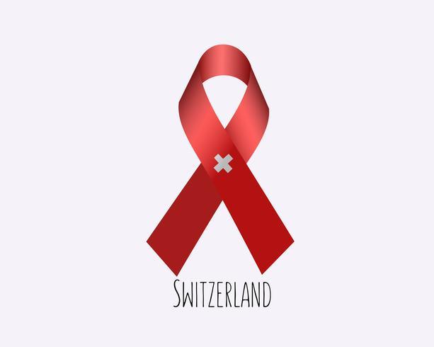 Rouw Zwitserland lint vector